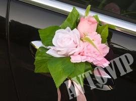 Розовый букет бутоньерка