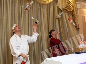 Свадебное шоу барменов на свадьбу Киев