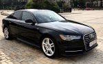 Аренда Audi А6 черная авто бизнес класса Киев цена