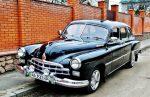 Прокат ретро автомобиля ZIM GAZ-12 черный Киев цена