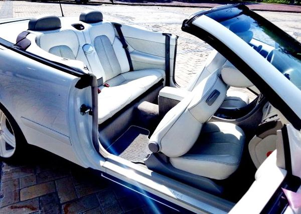 Mercedes W208 clk кабриолет аренда на свадьбу киев