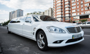 Mercedes W221 S600 белый лимузин