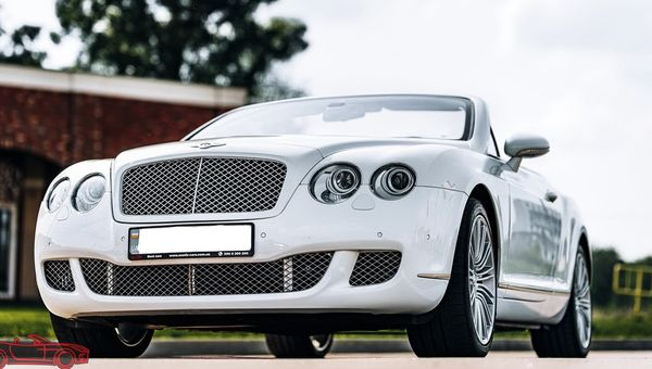 Bentley Continental GTC белый на свадьбу
