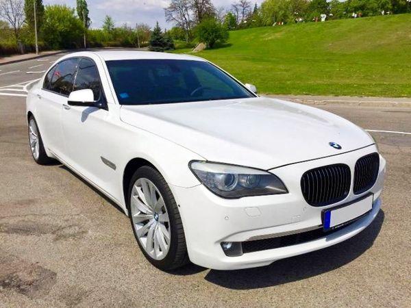 BMW 730L белая на прокат киев