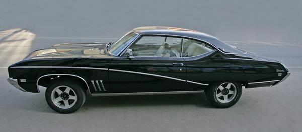 Buick Skylark Custom 1969 ретро автомобиль