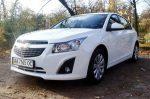 Аренда прокат авто Chevrolet Cruze белый Киев цена