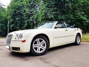 Chrysler 300С кабриолет белый аренда авто на свадьбу