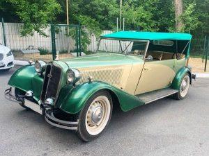 Ретро автомобиль Dampf Kraft Wagen на свадьбу съемки