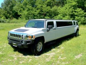 Hummer H3 белый лимузин
