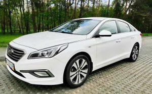 Hyundai Sonata белая 2015 прокат аренда