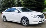 Аренда авто Hyundai Sonata NEW белая Киев цена