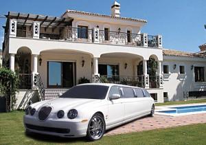 Jaguar лимузин белый