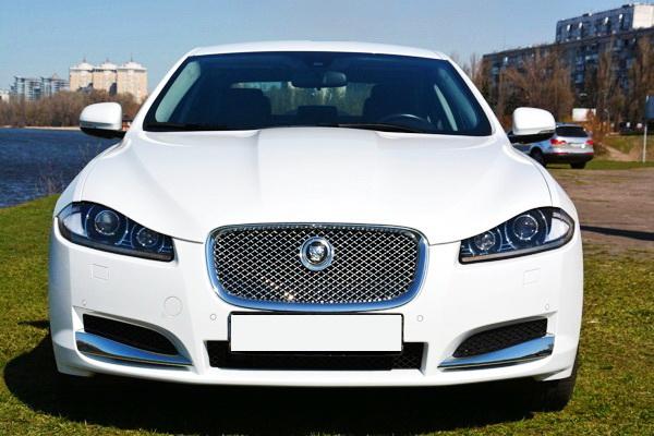 Jaguar XF белый прокат аренда