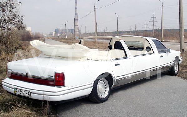 Lincoln Town Car белый кабриолет лимузин