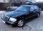 Прокат авто Mercedes W140 S600 черный Киев цена