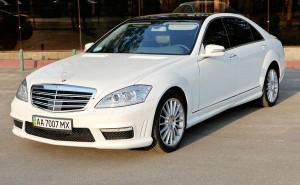 Mercedes 221 белый прокат аренда свадьба