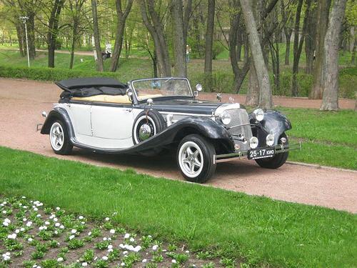На свадьбу ретро машины авто на
