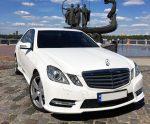 Аренда Mercedes W212 E class белый авто Киев цена