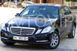 Аренда Mercedes W212 черный авто бизнес класса Киев цена