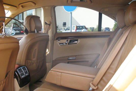 Mercedes W220 S550L белый