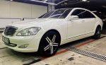 Аренда Mercedes W221 S550 белый авто бизнес класса Киев цена