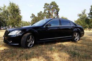 Mercedes W221 черный аренда авто киев