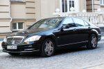 Аренда Mercedes W221 S600L черный авто бизнес класса Киев цена