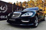 Аренда Mercedes W221 S65L черный авто бизнес класса Киев цена