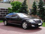 Аренда Mercedes W221 S550Long черный авто бизнес класса Киев цена