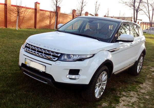 Range Rover Evoque белый прокат аренда