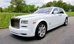 Rolls Royce Phantom белый аренда авто на свадьбу трансфер