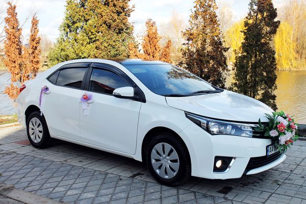 Toyota Corola белая заказать авто в киеве