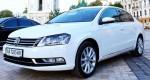 Аренда Volkswagen Passat B7 белый авто бизнес класса Киев цена