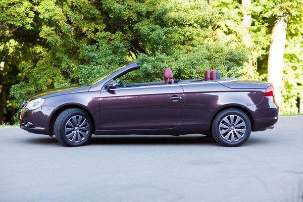Volkswagen EOS шоколадный на свадьбу съемки