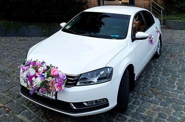 Volkswagen Passat B7 белый авто на свадьбу