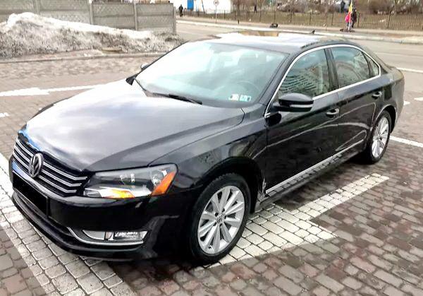 Прокат Volkswagen Passat В7 черный на свадьбу трансфер