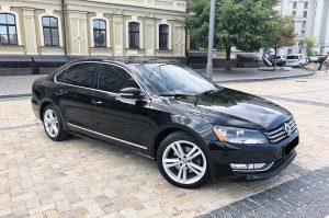 Volkswagen Passat B8 черный на свадьбу киев