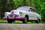 Прокат ретро автомобиля ZIM GAZ-12 бело-розовый Киев цена