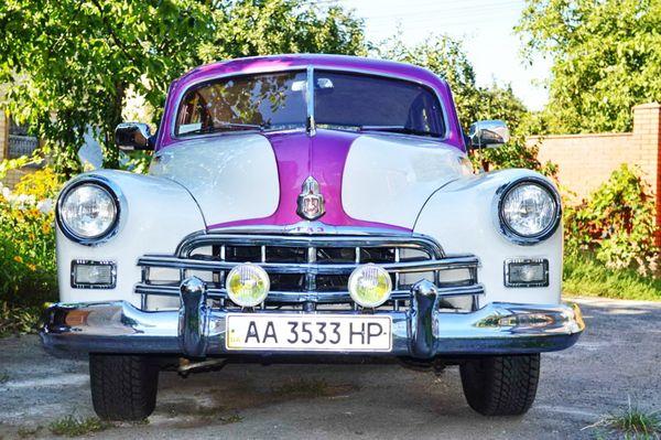 ZIM GAZ-12 бело-розовый кабриолет на свадьбу