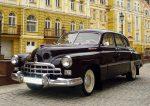 Прокат ретро автомобиля ZIM GAZ-12 вишневый Киев цена