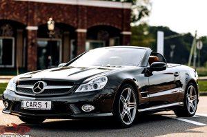 Mercedes SL500 черный кабриолет на свадьбу