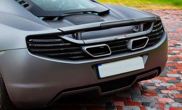 MCLAREN MP4-12C supercar-kupe серый прокат аренда киев