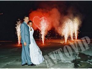 Свадебный салют фейерверк на свадьбу цена