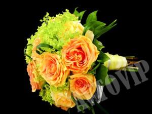 Оранжевые цветы для букета невесты на свадьбу, свадебные цветы невесты киев, букет на свадьбу для невесты киев