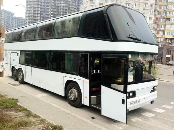 Neoplan двух этажный автобус