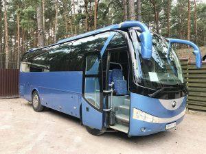 Yutong голубой автобус на свадьбу киев