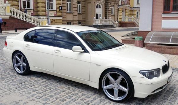 BMW 750L белая прокат аренда свадьба