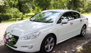 Peugeot 508GT белый машина на свадьбу