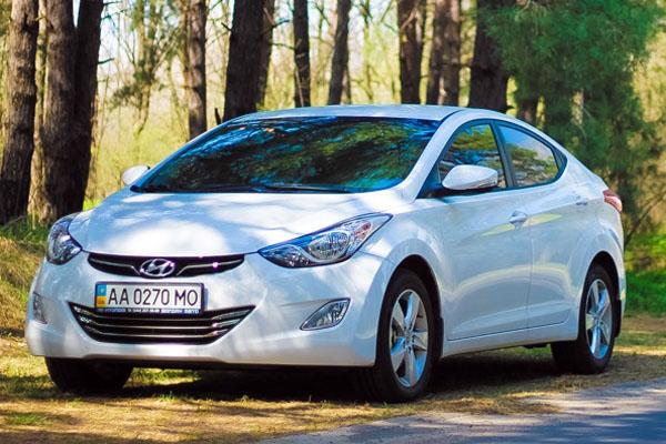 Прокат авто hyundai elantra белая киев цена