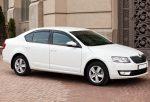 Аренда прокат авто Skoda Octavia A7 белая Киев цена